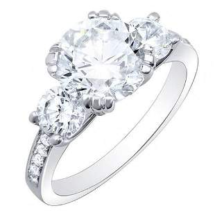 Natural 3.03 CTW Round Cut Diamond w/ Accents
