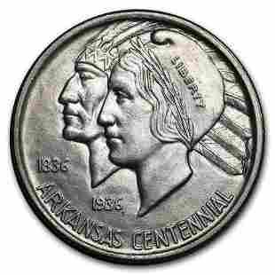 1938 Arkansas Centennial Half Dollar Commem BU