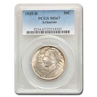 1935-D Arkansas Centennial Half Dollar Commem MS-67
