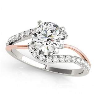 Natural 0.85 ctw Diamond Bypass Solitaire Ring 14k
