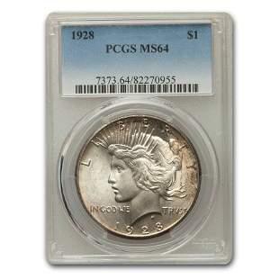 1928 Peace Dollar MS-64 PCGS