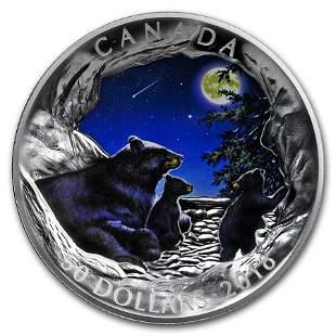 2018 Canada 5 oz Silver Nature's Light Show: Moonlit