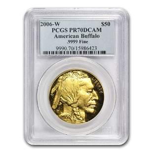 2006-W 1 oz Proof Gold Buffalo PR-70 PCGS