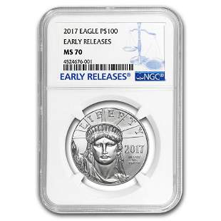 2017 1 oz Platinum American Eagle MS-70 NGC (Early