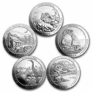 2014 5-Coin 5 oz Silver ATB Set (America the Beautiful)