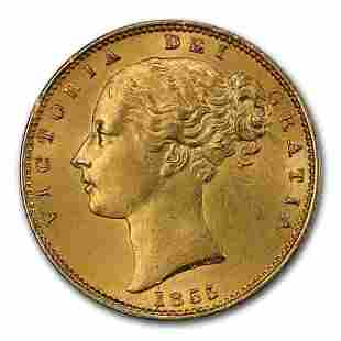 1855 Great Britain Gold Sovereign Victoria MS-63 PCGS