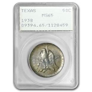 1938 Texas Half Dollar MS-65 PCGS