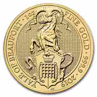 2019 Great Britain 1 oz Gold Queen's Beasts The Yale