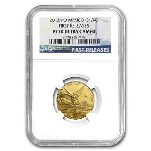 2013 Mexico 1/4 oz Gold Libertad PF-70 NGC (First