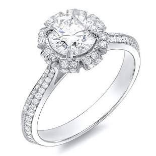 Natural 1.82 CTW Crown Halo Round Cut Diamond