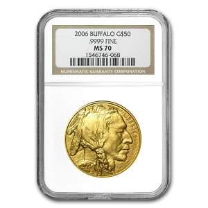 2006 1 oz Gold Buffalo MS-70 NGC