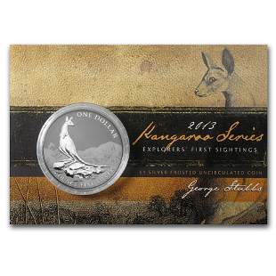 2013 Australia 1 oz Silver Kangaroo (In Display Card)