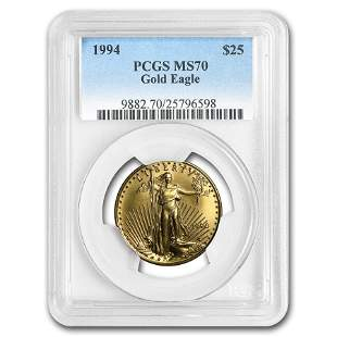 1994 1/2 oz Gold American Eagle MS-70 PCGS (Registry
