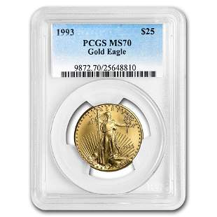 1993 1/2 oz Gold American Eagle MS-70 PCGS (Registry