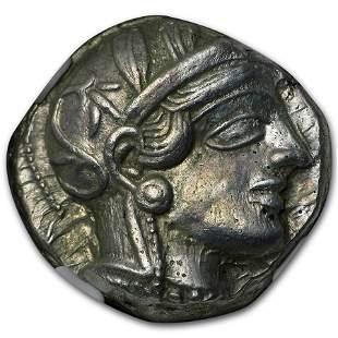 Attica Athens Silver Tetradrachm Owl (440-404 BC) CH AU