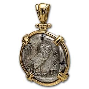 Attica Athens Silver Tetradrachm Owl (440-404 BC) 14 K