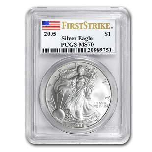2005 Silver American Eagle MS-70 PCGS (FirstStrike®)