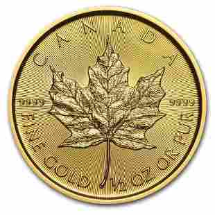 2020 Canada 1/2 oz Gold Maple Leaf BU
