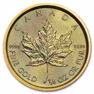 2020 Canada 1/4 oz Gold Maple Leaf BU
