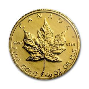1983 Canada 1/10 oz Gold Maple Leaf BU