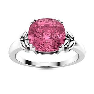 Natural 2.51 CTW Tourmaline Solitaire Ring 14K White