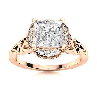 Natural 1.04 CTW Topaz & Diamond Engagement Ring 18K