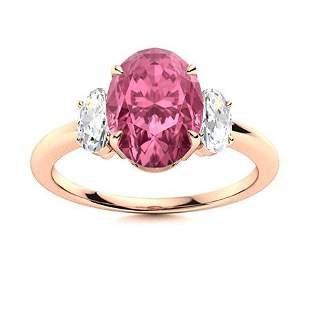 Natural 3.76 CTW Tourmaline & Diamond Engagement Ring
