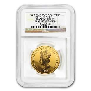 2012 Ascension Island 1 oz UHR Gold £50 Diamond Jubilee