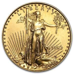 1993 1/4 oz Gold American Eagle BU
