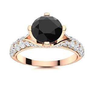 Natural 2.08 CTW Black & White Diamond Engagement Ring