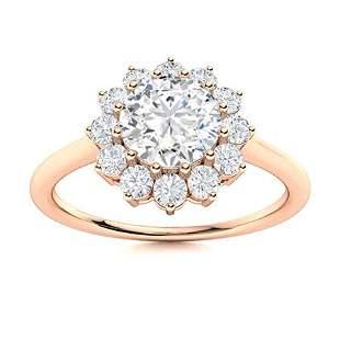 Natural 1.07 CTW Topaz & Diamond Engagement Ring 14K