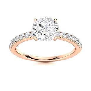 Natural 1.47 CTW Topaz & Diamond Engagement Ring 18K