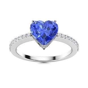 Natural 0.84 CTW Ceylon Sapphire & Diamond Engagement