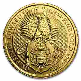 2017 Great Britain 1/4 oz Gold Queen's Beasts The