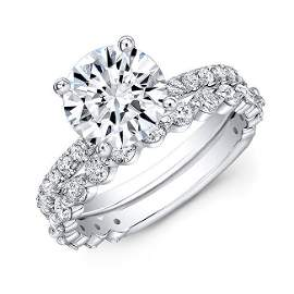 Natural 2.72 CTW Round Cut Diamond Engagement Ring 14KT