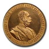 1891 Austria AE Medal Franz Joseph Visit to Prague