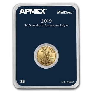 2019 1/10 oz Gold American Eagle (MintDirect® Single)