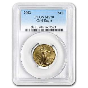 2002 1/4 oz Gold American Eagle MS-70 PCGS (Registry