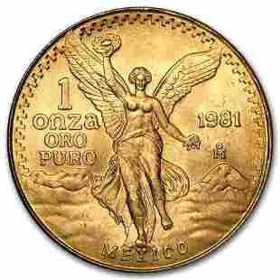 1981 Mexico 1 oz Gold Libertad BU