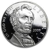 2009-P Abraham Lincoln $1 Silver Commem Proof (w/Box &