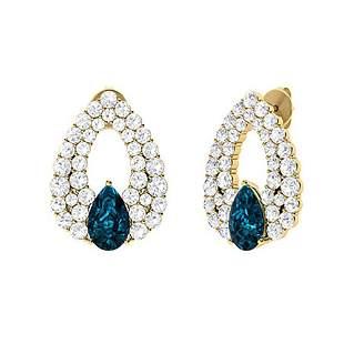 3.72 CTW London Blue Topaz & Diamond Chandelier