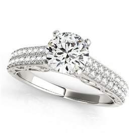 Natural 1.91 ctw Diamond Antique Ring 14k White Gold
