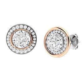 2.91 CTW Diamond Halo Earrings 14K White Gold