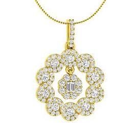 1.07 ctw Diamond Necklace 14K Yellow Gold