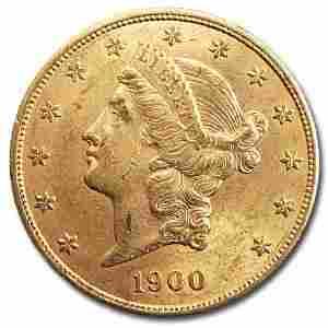 1900 $20 Liberty Gold Double Eagle AU
