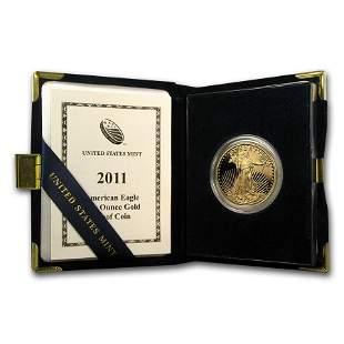 2011-W 1 oz Proof American Gold Eagle (w/Box & COA)