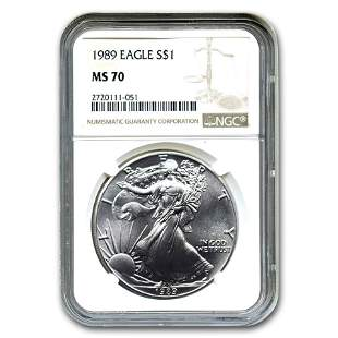 1989 American Silver Eagle MS-70 NGC