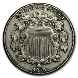 1870 Shield Nickel XF