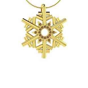 0.11 ctw Brown Diamond Necklace 18K Yellow Gold