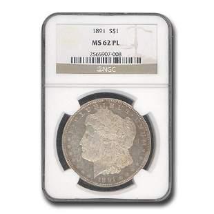 1891 Morgan Dollar MS-62 NGC (PL)